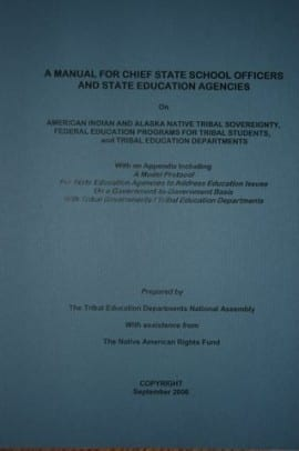 A Manual for Chief State School Officers and State Education Agencies - front cover