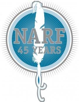 45th Anniversary NARF logo