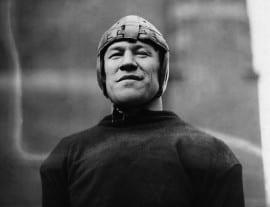 Jim Thorpe in football gear