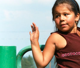 photo of  girl playing