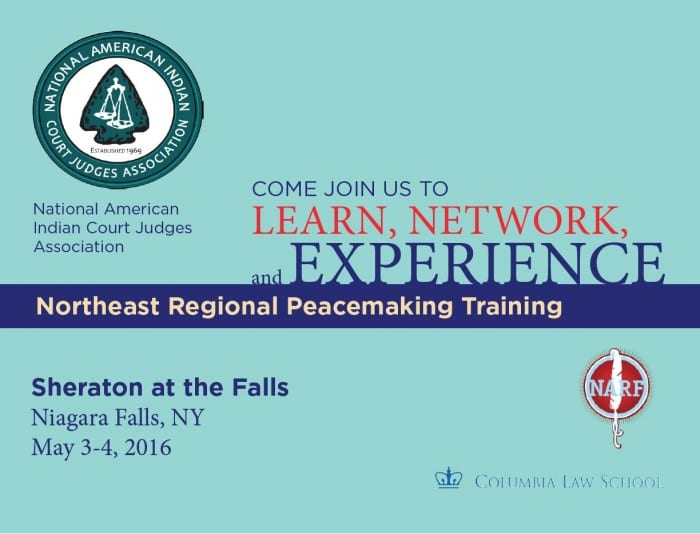Save the Date Card for Northeast Peacemaking Training