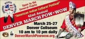 2016 Denver March Powwow flyer
