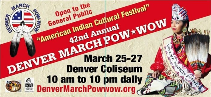 2016 Denver March Powwow flyer