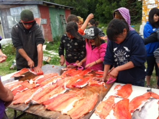Tyonek youth at Big Lake Culture Camp