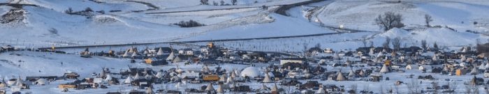 Water protector camp at Standing Rock, December 2016