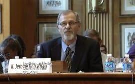 photo of Gottschalk giving testimony