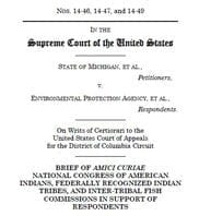 Front page of Michigan v. EPA brief