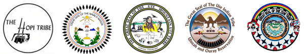 Seals of the tribes participating in the Bears Ears Intertribal Coalition