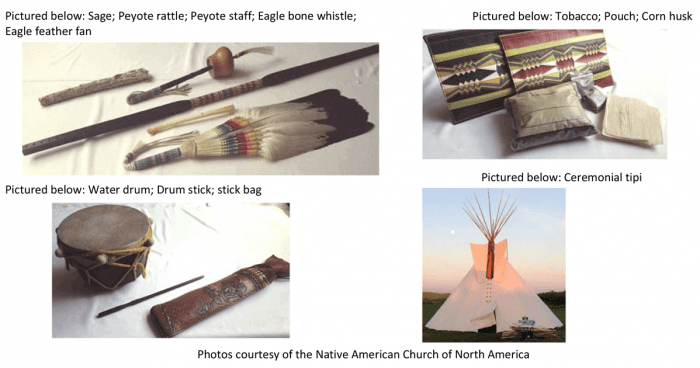 Photos of Native American sacred objects, Native American Church