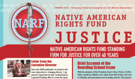 Image of front page of Spring 2018 Justice Newsletter