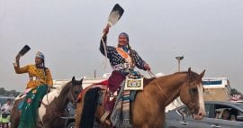 photo of Crow District Princess on horseback