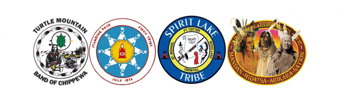 Tribal seals from Turtle Mountain, Standing Rock, Spirit Lake, and MHA