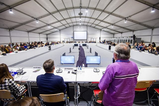 Photo of meeting at COP24