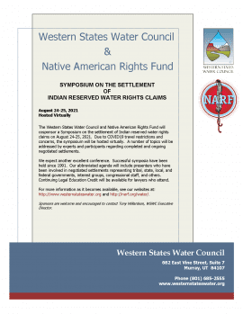 Flyer for the 2021 water symposium