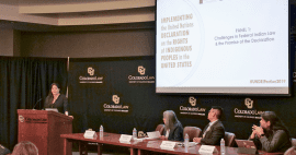 NARF Staff Attorney Heather Whiteman Runs Him leads panel discussion, March 2019