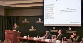NARF Staff Attorney Heather Whiteman Runs Him leads panel discussion, March 2019
