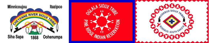 Seals of the Cheyenne River, Oglala, and Rosebud Sioux Tribes