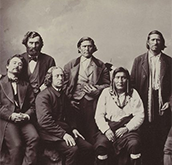Photo of 1874 Pembina Delegation. Source: National Museum of American Indian