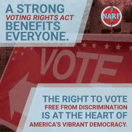 Text: A Strong Voting RIghts Act Benefits Everyone.