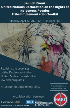Flyer for UN Declaration Tribal Implementation Toolkit
