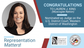 Congratulations Lauren King, Nominee to US District Court, Western District of Washington